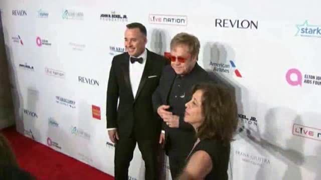 News video: Elton John's AIDS Foundation Honors Hillary Clin
